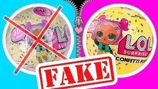 BAD COPY – FAKE LOL Dolls Surprise series 3 Confetti Pop | LOL Dolls Videos | LOL Unboxing
