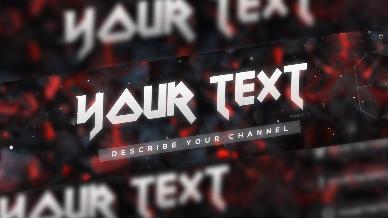 SpeedArt] FREE Amazing Youtube Channel Banner Template #13 + Direct ...