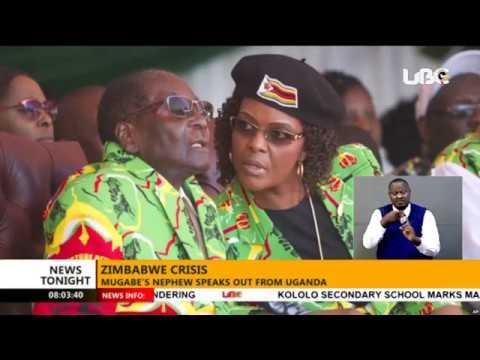 Robert Mugabe's nephew speaks out from Uganda on Zimbabwe Crisis #NewsTonight Bulletin 16 Nov 2017