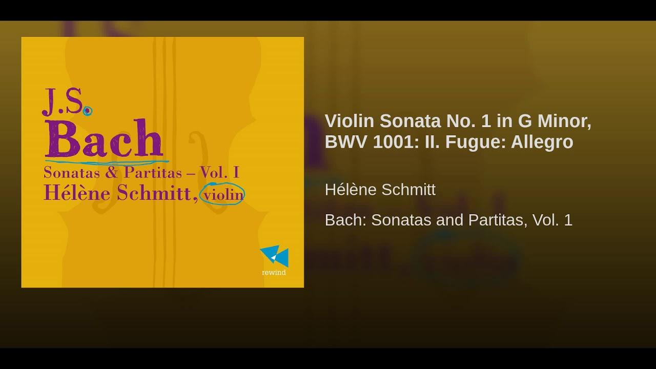 Violin Sonata No 1 in G Minor, BWV 1001: II Fugue