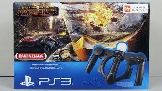 Руль PS Move Racing Wheel для Playstation 3  + Игра MotorStorm: Apocalypse (PS3) Распаковка