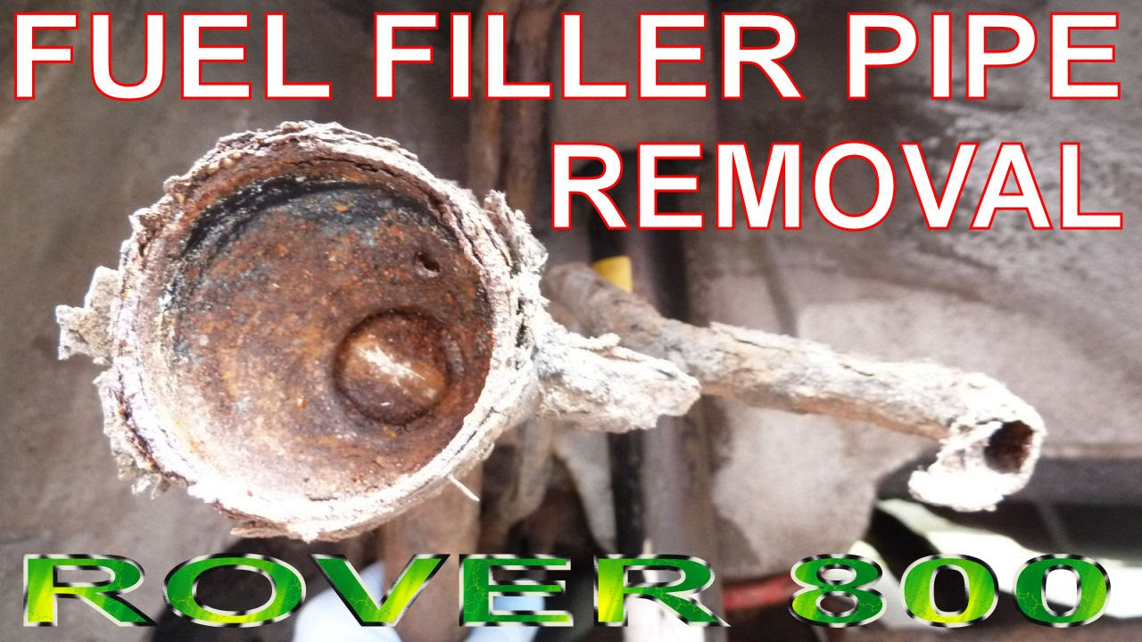 How to remove fuel filler pipe petrol filler neck removal replacement rover 800 820 825 827 youtube