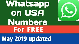 WhatsApp on USA Canada numbers free