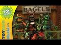 Teenage Mutant Ninja Turtles action figures at Playmates Toys Booth - NY Toy Fair 2017