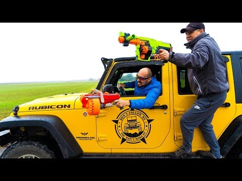 Jeep VS Nerf. Джип ВЕЗДЕХОД. НЕ простая МИССИЯ.