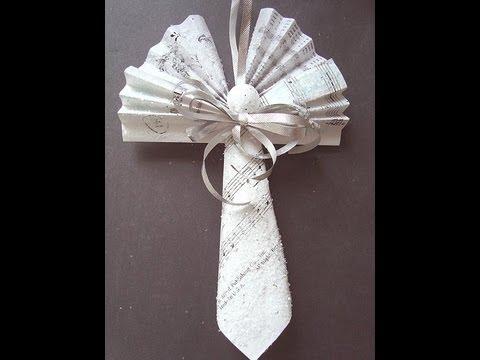 MUSIC SHEET ANGEL, paper angel, tree ornament, gift topper