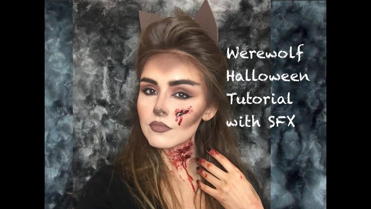 Bloody Werewolf Halloween Makeup Tutorial - YouTube