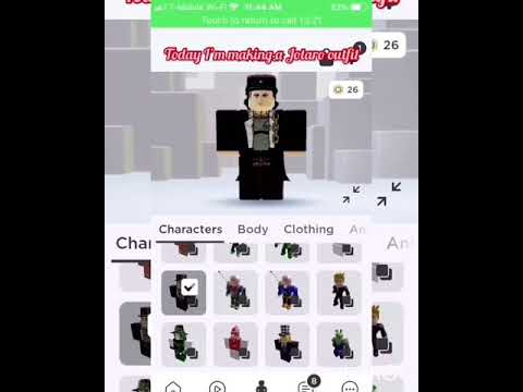 How To Make A Jotaro Outfit In Roblox Youtube