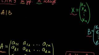 §30 Системы линейных алгебраических уравнений