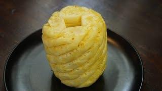 切菠萝的方法 : 漂亮的形状并减少浪费 - Morgane's