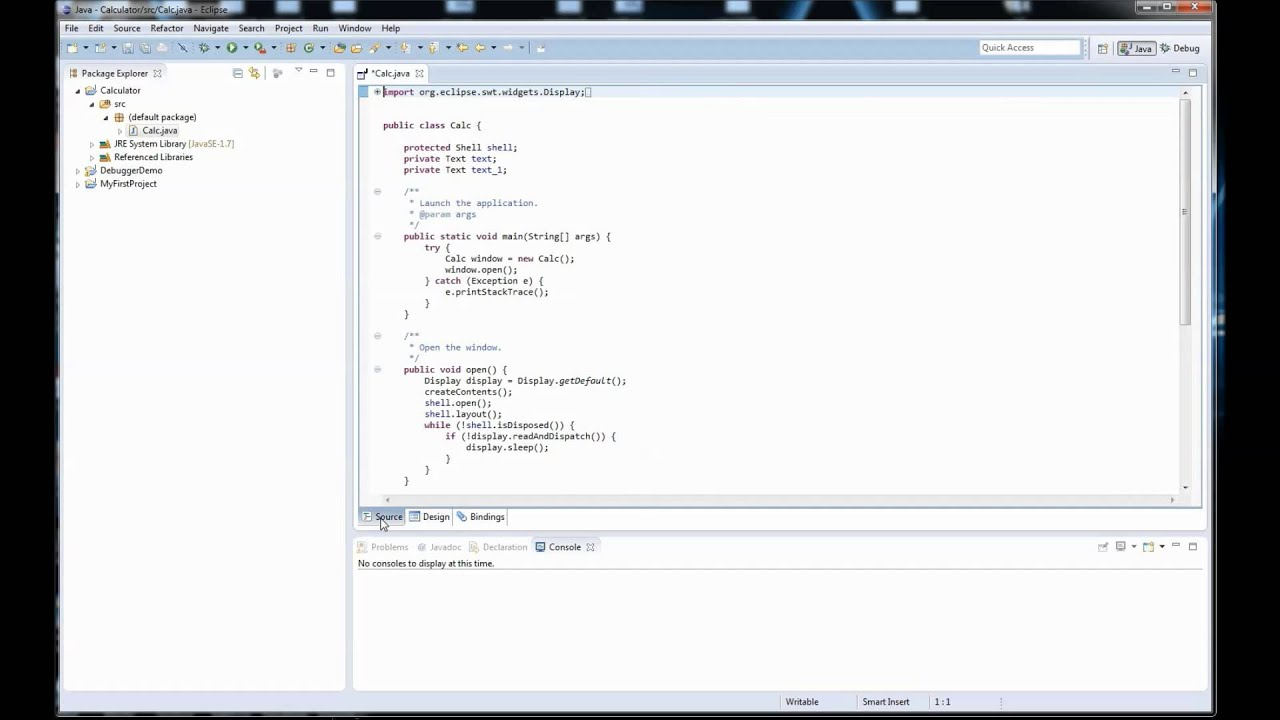 Java #E3: Creating a GUI with Eclipse
