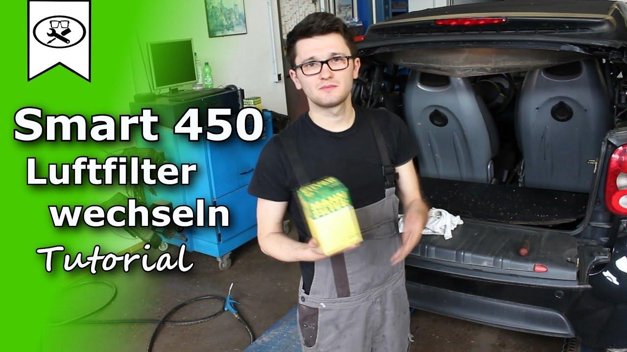 smart 0 8 450 luftfilter wechseln change air filter. Black Bedroom Furniture Sets. Home Design Ideas