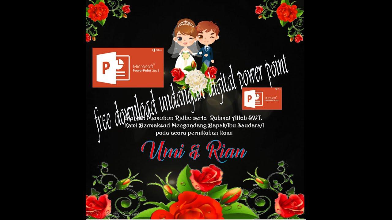 Download Video Undangan Pernikahan Ppt Gratis Free Wedding Invitation Template Powerpoint Youtube