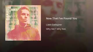 Liam Gallagher - Now That I've Found You