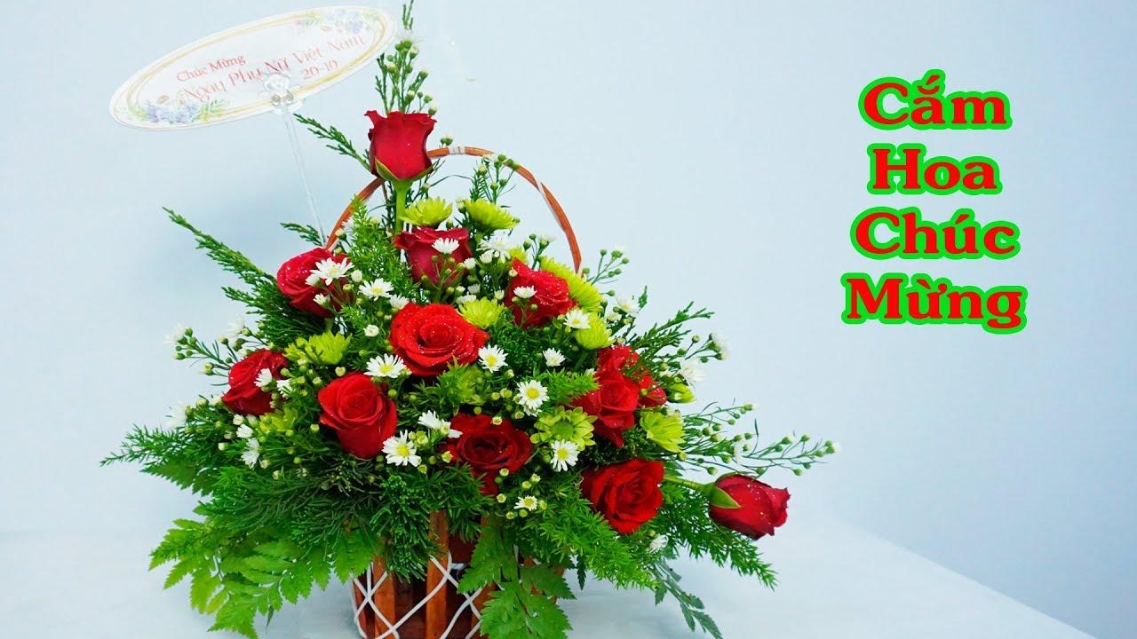 Hướng dẫn cắm hoa hồng đơn giản đẹp | Hoa tặng chúc mừng
