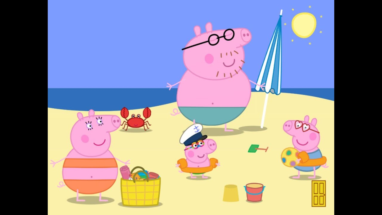 Peppa Pig And Family Summer Beach I Jigsaw Puzzle I Kids Play Game Youtube
