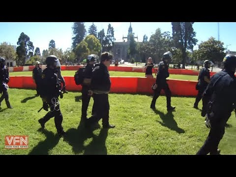 Berkeley Police Enforce Anti-Mask Law