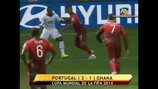 Portugal Vs Ghana  2-1  | Mundial Brasil 2014 | Atv