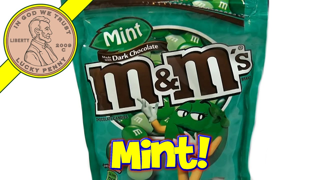 M M S Mint Dark Chocolate Candies Mars M M S Candy Taste Test Series Youtube