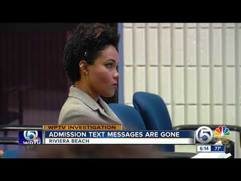 Attorney for Riviera Beach admits problem; text messages gone