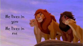 He Lives in You (with lyrics) - Lion King Karaoke