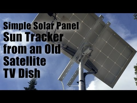 Simple Solar Panel Sun Tracker from an Old Satellite TV Dish
