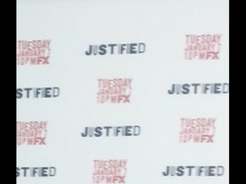 On the Red Carpet - Justified Season 5 Premiere