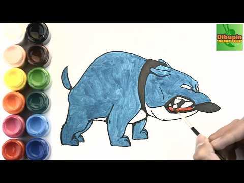 Como Dibujar Y Colorear A Tanque De Mi Perro Pathow To Draw And