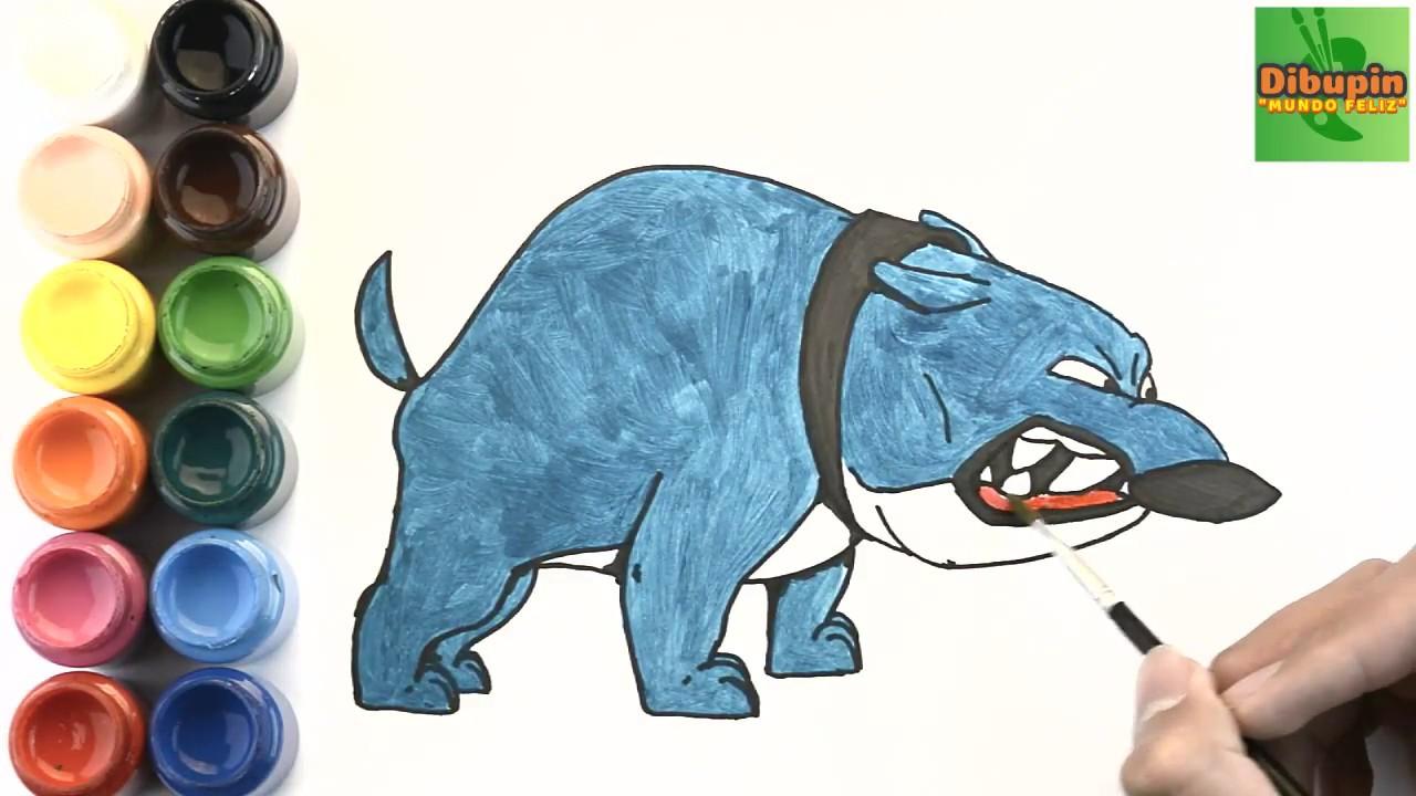 Como Dibujar Y Colorear A Tanque De Mi Perro Pathow To Draw And Color Tank Of Pat The Dog