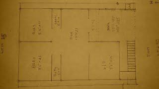 25 × 50 East face house plan details