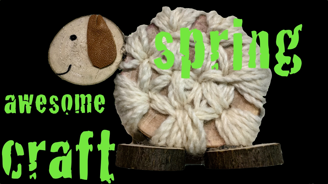 The Sheep natural decoration craft for kids