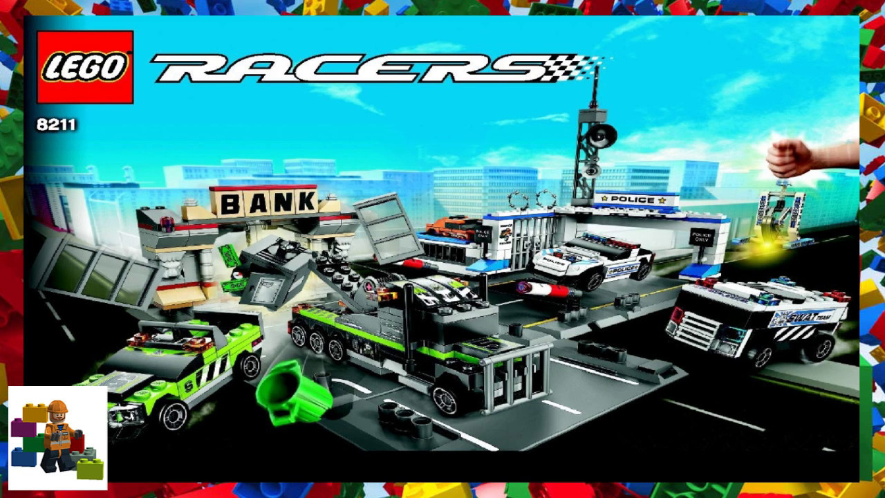 Lego Instructions Racers 8211 Brick Street Getaway Youtube