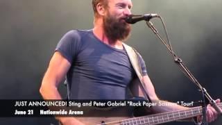 "Breaking Concert News: Sting and Peter Gabriel Kick Off ""Rock Paper Scissors"" Tour in Columbus!"