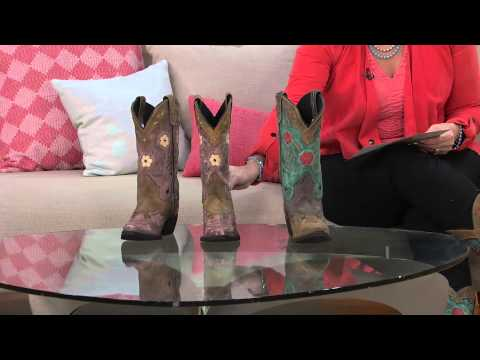 Laredo Leather Cowboy Boots - Miss Kate with Jane Treacy