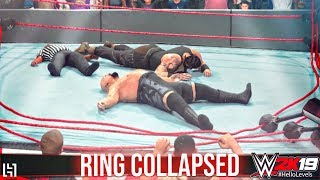 WWE 2K19 Big Show vs Braun Strowman | WWE 2K19 Ring Collapsed | WWE 2K19 Ring Break PS4 Gameplay