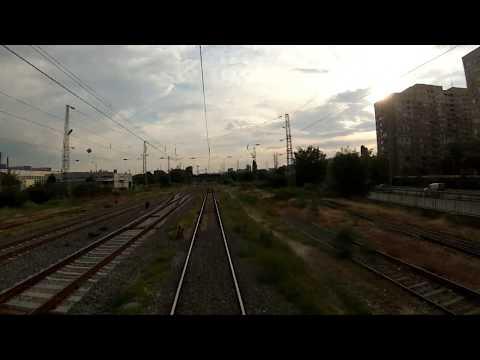 Train cab ride Bulgaria: Tulovo - Stara Zagora [Time-lapse movie]