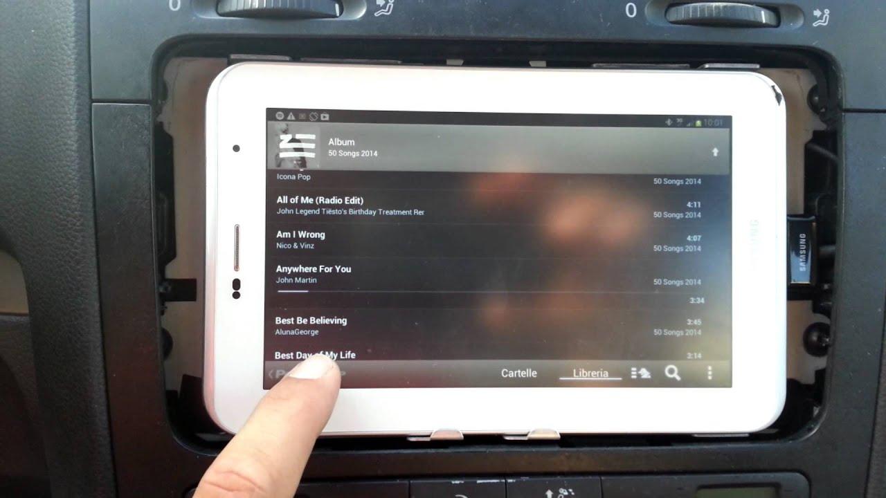golfdroid 2 0   golf v tablet in car install   youtube
