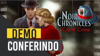 Noir Chronicles city Of Crime PS4  - Conferindo a  DEMO! Eu Sou  Quase Um Xerox  Home