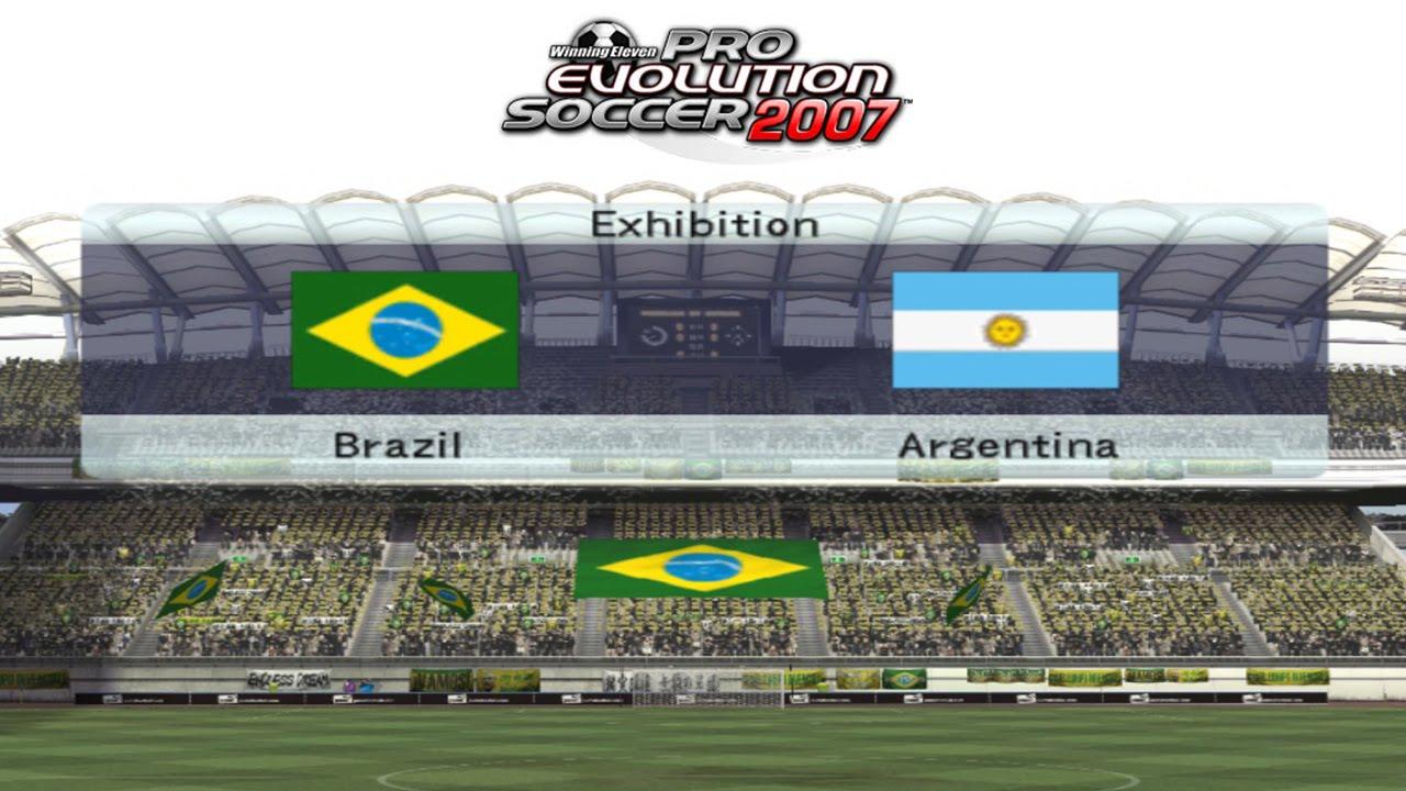 PES 2007 – BRASIL VS ARGENTINA