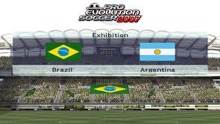 PES 2007 - BRASIL VS ARGENTINA