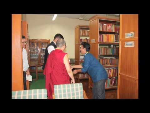 Dr Lobsang Sangay being welcomed to the Central University of Tibetan Studies