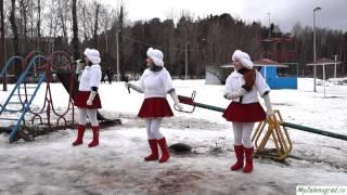 "Шоу-группа ""Матрешки"" на «Встрече Деда Мороза в Савёлках». ""Песенка о медведях"""