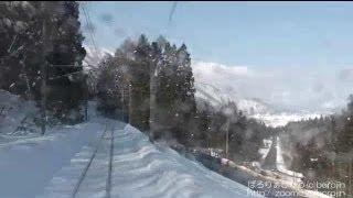 大糸線雪景色2010-S4(南神城→海ノ口~rear window view)