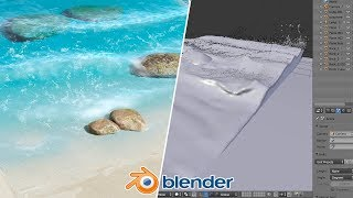 Beach Waves - Blender Fluid Tu…