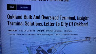 Insight Terminal Solutions Oakland OBOT Letter To City Of Oakland A Must Read