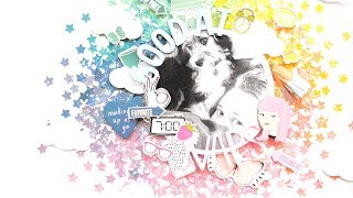 Good At Naps! | Mixed Media Scrapbook Layout With Elsie Robinson