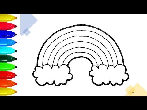 Vẽ và tô màu cầu vồng đẹp nhất | Draw and color the most beautiful rainbow 🌈🌈 | Drawing tutorials