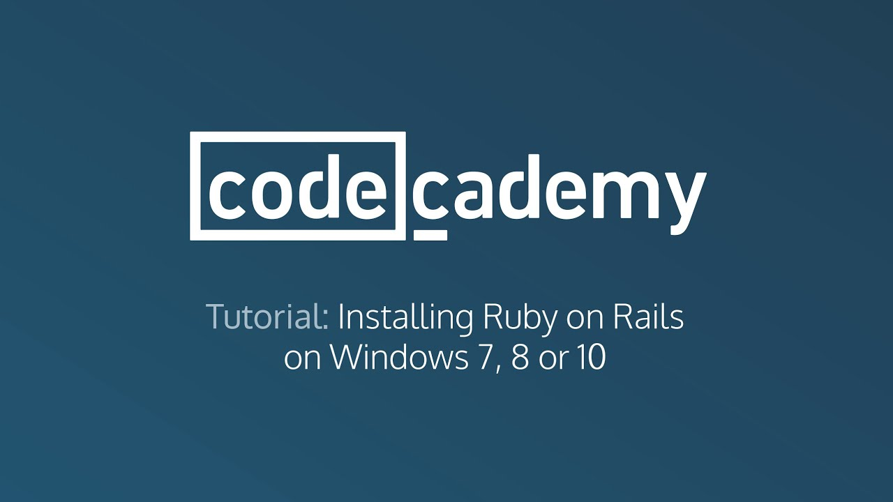 Video's van Ruby on rails for windows 7