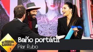 Pilar Rubio sorprende a Leiva con un baño unisex portátil - El Hormiguero 3.0