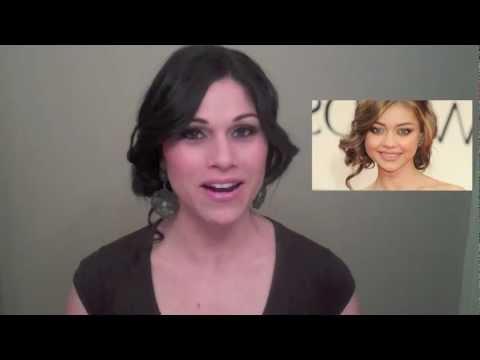 Sarah Hyland Golden Globes- Hair Tutorial